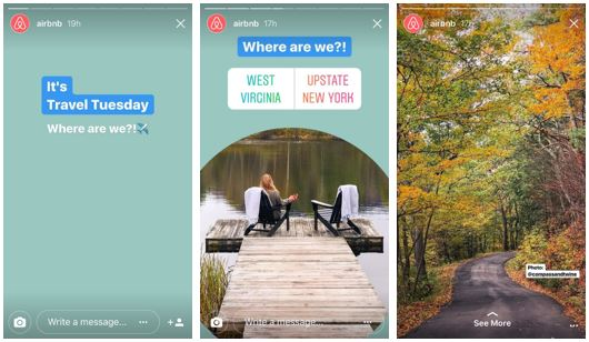 How brands should use Instagram Stories - Air BnB